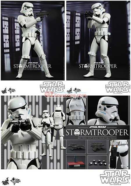 Hot Toys Hot Toys Star Wars Episode Iv A New Hope Stormtrooper 1 6 Scale Figure Gztoystore Com