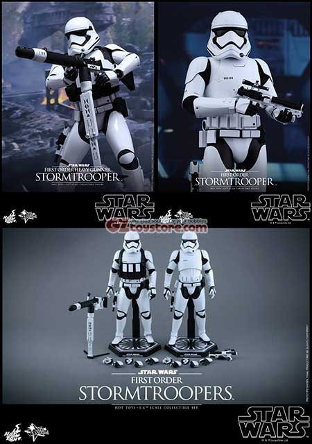 Hot Toys - Star Wars - The Force Awakens : First Order Stormtroopers 2-Pack 1/6 Scale Figure